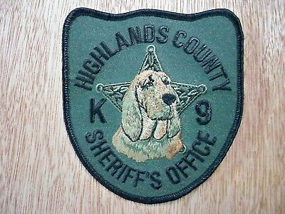 Florida - Highlands Sheriff Police Patch CURRENT ISSUE K-9 UNIT BLOODHOUND