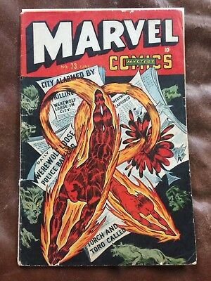 Rare 1946 Timely Golden Age Marvel Mystery Comics #73 Classic Cover Complete