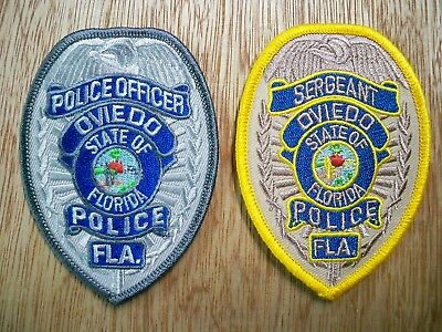 Florida - Oviedo Police Patch CURRENT ISSUE SHIELD SET OF 2