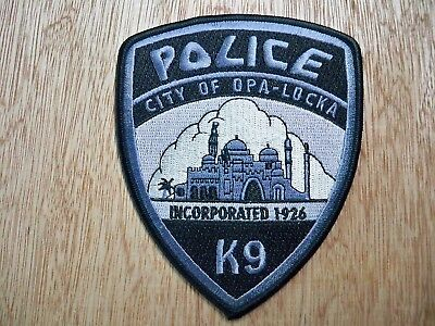 Florida - Opa-Locka Police Patch CURRENT ISSUE K-9 UNIT SUBDUED