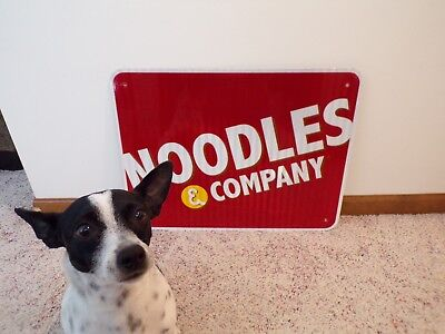 Authentic NOODLES & COMPANY Interstate Exit Ramp Sign Reflective Aluminum~18x24
