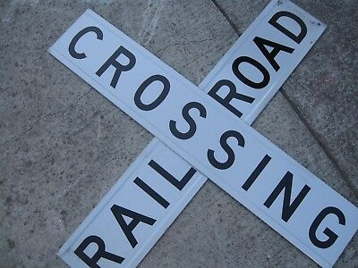 "Railroad Sign ""RAILROAD CROSSING"""