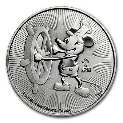 1 oz silver Steamboat Willie. INSTOCK! Disney.999 pure silver. Mickey mouse.BU!