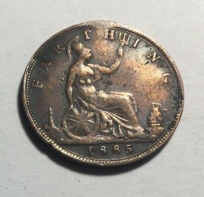 Great Britain (UK) 1885 Farthing Coin - Queen Victoria