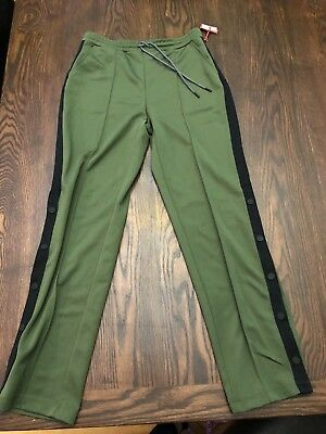 9014832972d Hunter for Target Olive Women s Tapered Side Snap Track Pants Size Small NWT