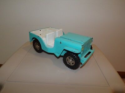 Vintage ?1960's Tonka Jeep Truck Toy Light Blue Turquoise Blue