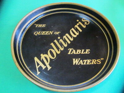 "Antique Tin Tray - ""The Queen of Apollinaris Table Waters"""