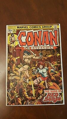 Conan The Barbarian #24 1st Full Red Sonja appearance