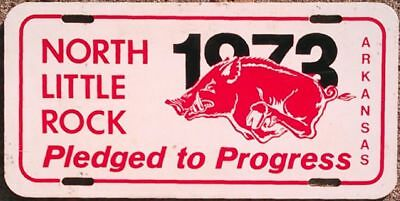 University of Arkansas 1973 HOGS North Little Rock license plate / tag