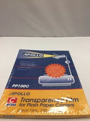 APOLLO Transparency Film for Plain Paper Copiers PP100C 100 Sheets New Old Stock
