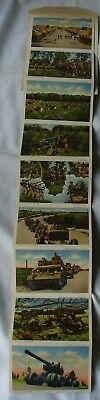 Pictorial scenes of U.S. Army WWII Fold-Out Postcard Booklet Vintage 1942 WW2