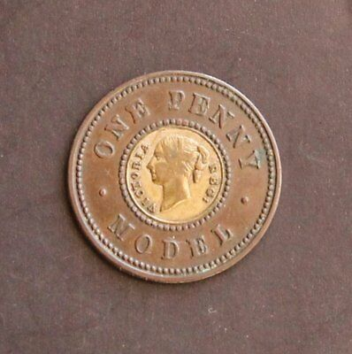 UK One Penny Model Victoria coin