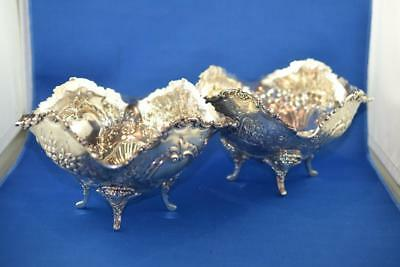 """Lot of 2 WGJL Sterling Silver Bowls 6.25""""x 4.5"""" 589.3g Total Weight 92.5% Silver"""