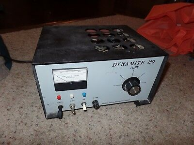 Vintage Transel Dynamite 150 Antique Ham Cb Linear Tube Amplifier - Powers Up