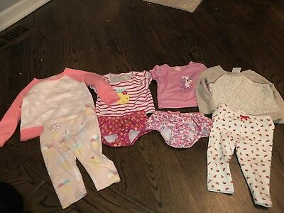 Lot Of Girls Clothes 6-12 Months Gumboree, Gap, Cat And Jack