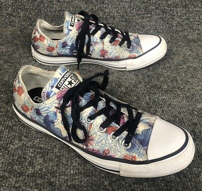 Converse All Star Chuck Taylor Canvas Floral Low Top Women's Size 7 In EUC