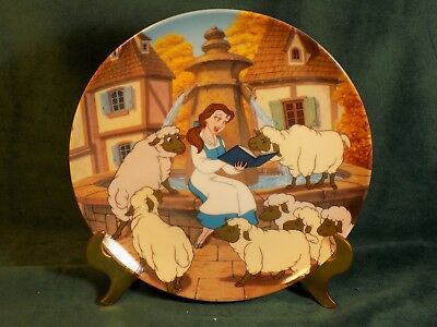 BELLES FAVORITE STORY Disney's Beauty and the Beast Collection Plate COA 6658A