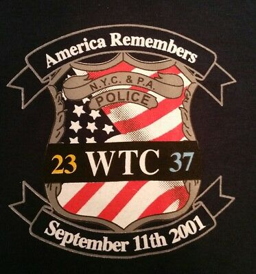 NYPD New York City Police PAPD Port Athority WTC 9/11 T-Shirt Sz 2XL NEW