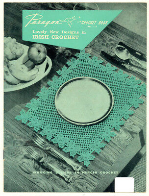 VINTAGE PARAGON CROCHET BOOK No.123 - NEW DESIGNS IN IRISH CROCHET