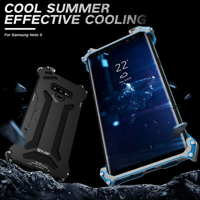 For Samsung Galaxy Note 9 R-Just Shockproof Aluminum Hard Armor Metal Case Cover