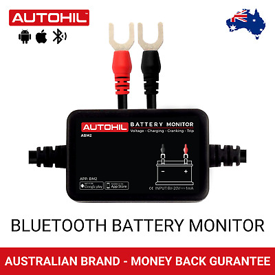 Autohil ABM2 Dual Multiple 12V Bluetooth Car Battery Voltage Monitor Tester