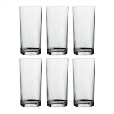 Set of 6 Clear Glass Water Glasses 400ml Premium Quality Glass Water Tumble Set