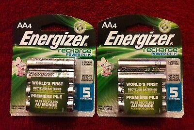 Energizer ® AA Rechargeable Recharge Power Plus 8 Pack NIMH 1.2V 2300 mAh NEW