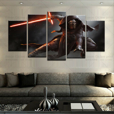 Large Canvas Print 5 Piece Star Wars Modern Paintings Home Wall Art Decoration