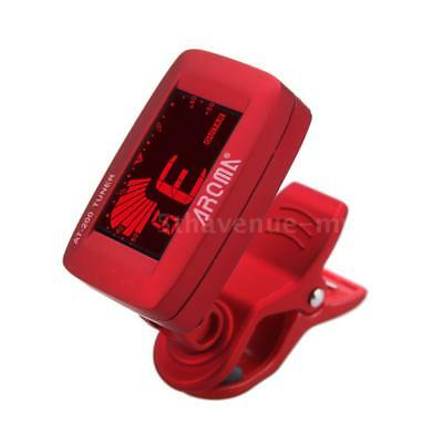 Aroma AT-200 Clip-on Electric Tuner LCD for Guitar Chromatic Bass Uku O5R8