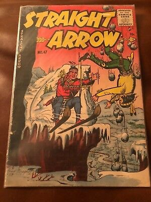 Straight Arrow # 47 VG/FN ME Comic Book Silver Age Indians Cowboys Meagher JL9