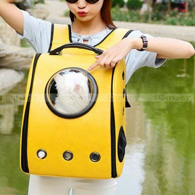 Outdoor Cat Dog Pet Breathable Backpack Travel Small Puppy Double Shoulder Bag