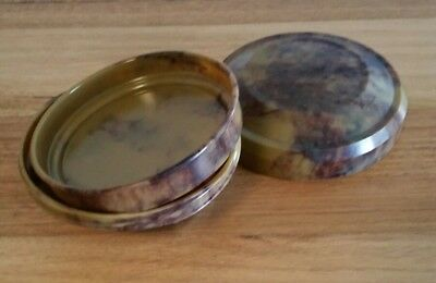 Vintage Bakelite Compact Powder Puff Chic-pak Deluxe Model Made in England