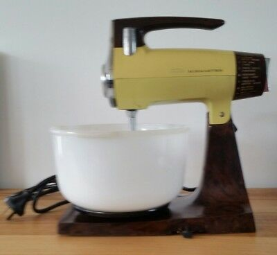 Vintage Sunbeam Mixmaster Glass Mixing Bowl Working Order