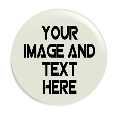 32mm Fully Personalised Button Badge - Your Image or Text on Custom Badge