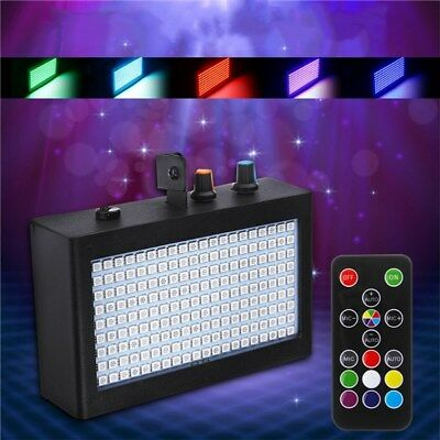 180 LED Colorful Strobe Flash Stage Lights Sound Activated Disco Lights with Rem
