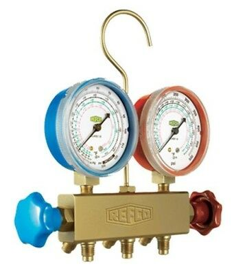 Refco MANIFOLD SET APEX-M2-6-kPa-R134A Dual Scale Gauges, 3 Charging Lines