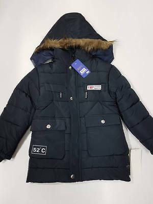 Boy Thick Jacket Size 4 5 6 7 Kid Winter Warm Puff Coat Parka Hooded WH168 Navy