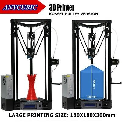 AU STOCK ANYCUBIC 3D Printer Auto Leveling Kossel Pulley Version 180×180×300mm