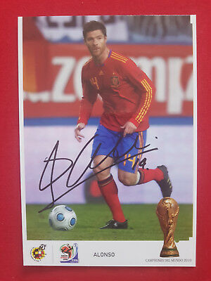 Official football postcard Alonso - Spain