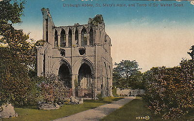 Dryburgh Abbey - St Mary's Aisle and Tomb of Sir Walter Scott