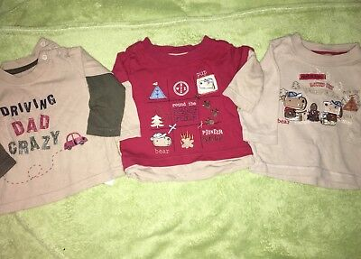 Baby Boy Vest And Tops 3-6months