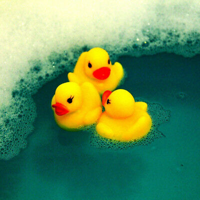 Place Float & Squeak Rubber Duck Ducky Baby Bath Toy for Kids LH