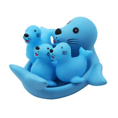 Baby Floating Bath Toys Toddler Bathtub Friends Toys Rubber Squeaky Toy Set LH