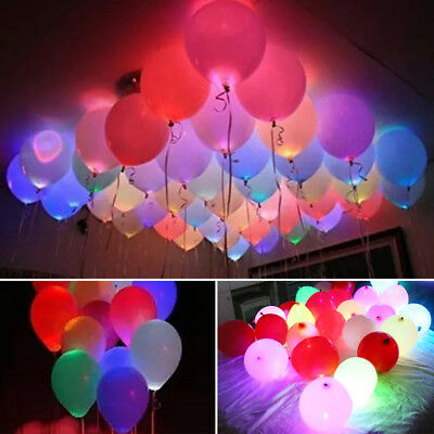 Led Balloon Light Up Balloons Party Decoration Wedding Birthday Multi-Color Uk