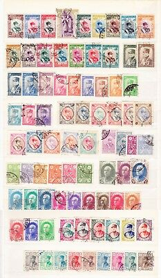 LOT #37  RARE 81 single  REZA SHAH  stamp set Pahlavi  Book Value: $200