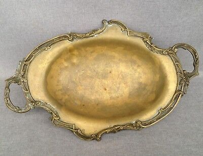 Antique french plate ring stand early 1900's made of bronze Louis XV style