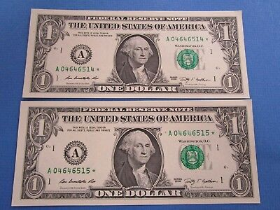2009 USA Consecutive One Dollar, STAR Notes, UNC both