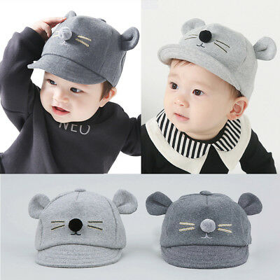 5e9e8ac538b Unisex Lovely Kids Baby Bunny Rabbit Visor Baseball Cap Cotton Peaked Hat US