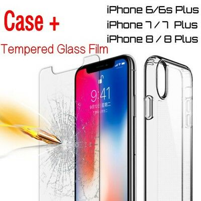 Hybrid Shockproof Clear TPU Soft Bumper Cover For iPhone 6 7 8 iPhone8 Plus Case