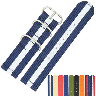 Watch Strap Band Army Military Divers Nylon NATO G10 Mens 18mm 20mm 22mm Hot